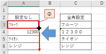 文字を半角から全角または全角から半角に変換する方法-5