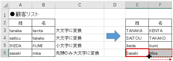 英字を小文字大文字先頭のみ大文字に変換する方法